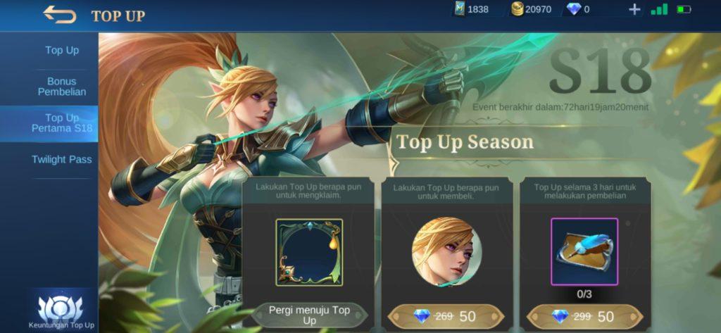 Top Up Diamonds Awal Season